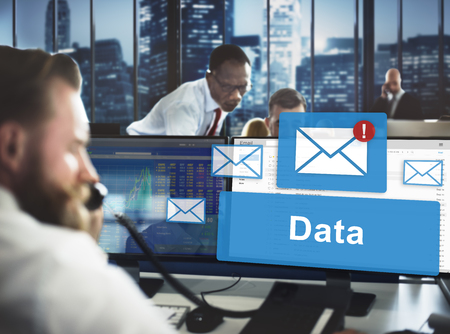 stockmarket: Data Information Email Connection Online Concept Stock Photo