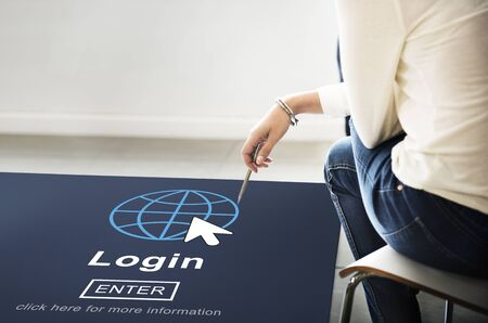 log in: Log In Profile Enter Global Icon Concept