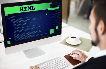 html: Html Programming Advanced Technology Web Concept Stock Photo