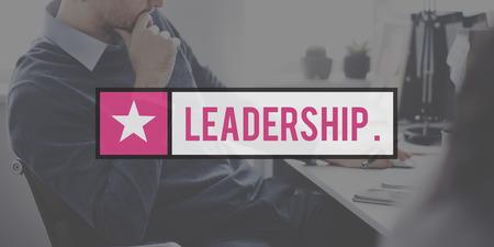 autoridad: Concepto líder liderazgo de la Autoridad de Gestión de Boss
