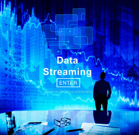 streaming: Data Streaming Online Web Media Concept