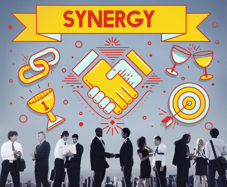 synergy: Synergy Collaboration Cooperation Teamwork Concept Stock Photo