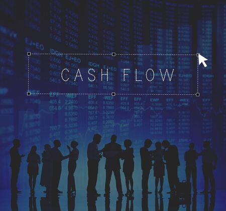 cash flow: Cash Flow Economy Finance Investment Money Concept
