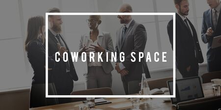 office space: Coworking Space Office  Corporate Business Concept