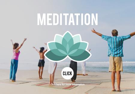 considerate: Meditation Focus Contemplation Consideration Peaceful Concept