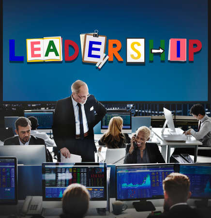 financial adviser: Leader Leadership Skill Authority Influence Concept