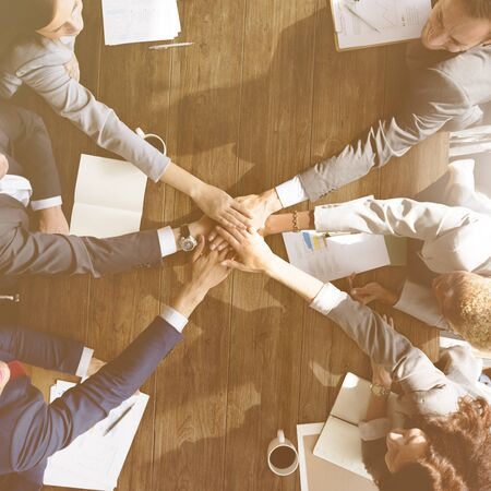 team hands: Business Team Support Join Hands Support Concept