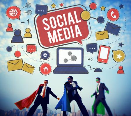 communication concept: Social Media Connection Global Communication Concept Stock Photo