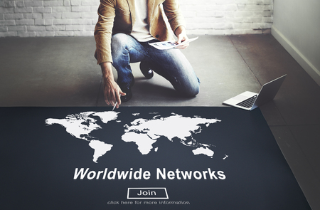 allover: Worldwide Networks Global International Unity Concept Stock Photo