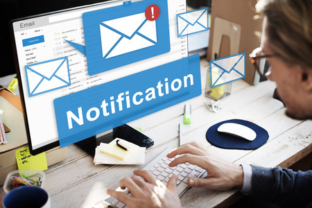 Notification Alert Digital Icon Internet Network Concept Imagens