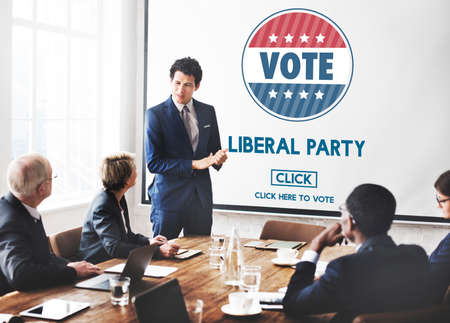 Liberal Party Election Vote Democracy Concept Stock Photo