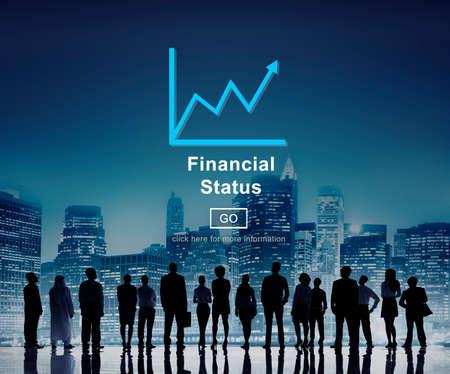 debt goals: Financial Status Money Cash Growth Analysis Concept Stock Photo
