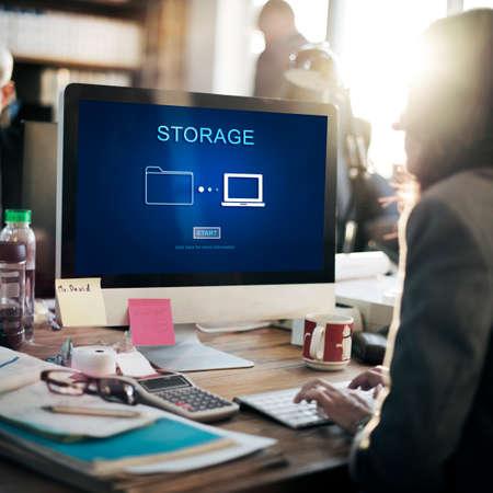 hardware: Storage Database Technology Computing Hardware Concept