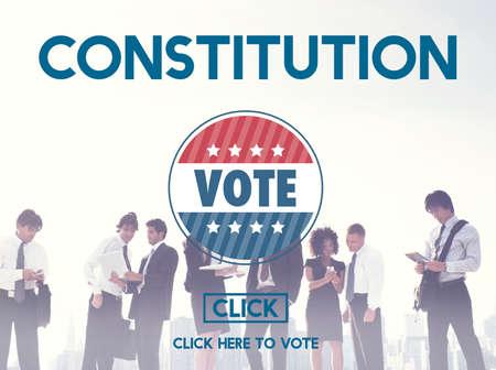 constituci�n pol�tica: Concepto Unidad Libertad Constituci�n Documento Autoridad Foto de archivo