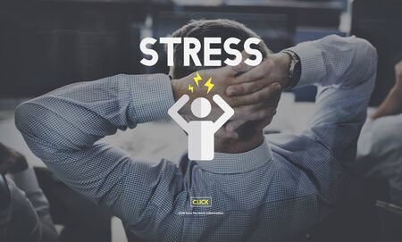 worried executive: Stress Management Tension Anxiety Strain Rehabilitation Concept