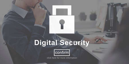 digital security: Digital Security Protection Privacy Interface Concept