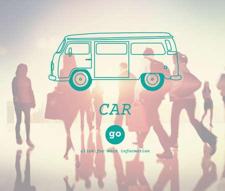 destination: Car Travel Destination Trip Adventure Traveling Concept Stock Photo