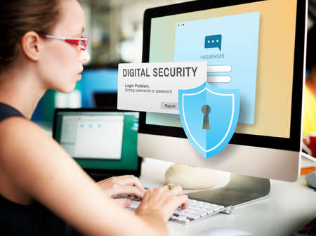 security technology: Digital Security Protocol Protection Technology Concept
