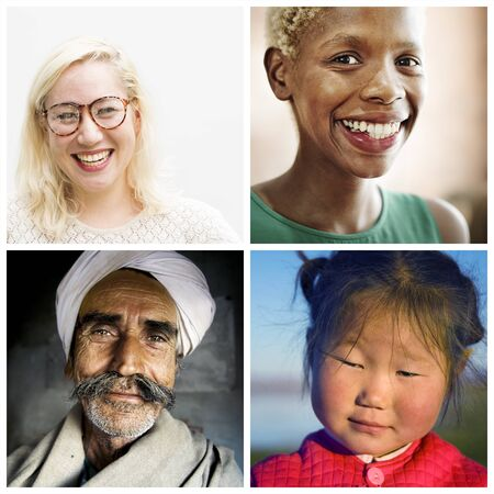 humanism: Human Ethnicity Humanism Collection Concept Stock Photo
