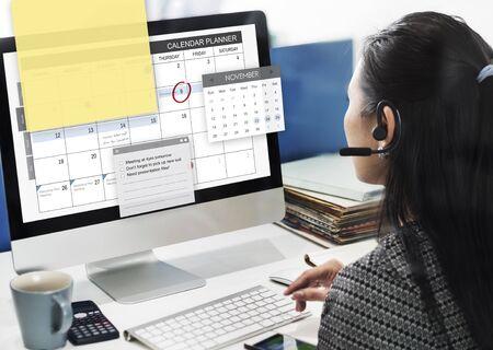 Terminplaner Task-Agenda-Checkliste Konzept Standard-Bild