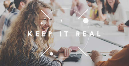 authentic: Keep It Real Genuine Authentic Concept Stock Photo