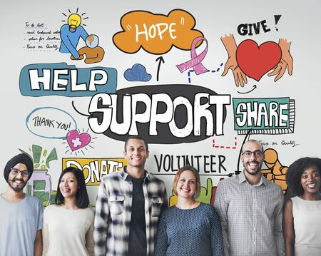 humanitarian: Support Help Humanitarian Advice Collaboration Concept