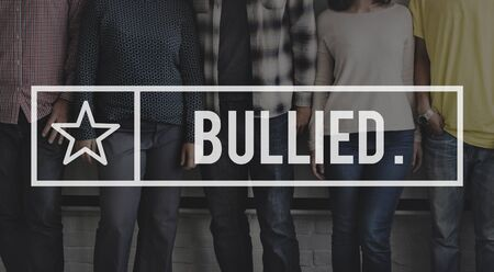 bullied: Bullied Bullying Torment Scare Oppression Forceful Concept