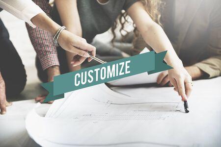 customize: Customize Create Innovate Modify Creativity Concept