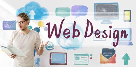 Web Design Programmierung Software Netzwerkkonzept