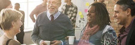 다양성 사람들 그룹 팀 회의 개념 스톡 콘텐츠