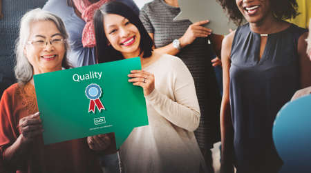 best quality: Quality Guarantee Level Service Best Class Value Concept Stock Photo