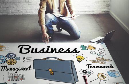 decorator: Business Company Corporate Enterprise Organisation Concept Stock Photo