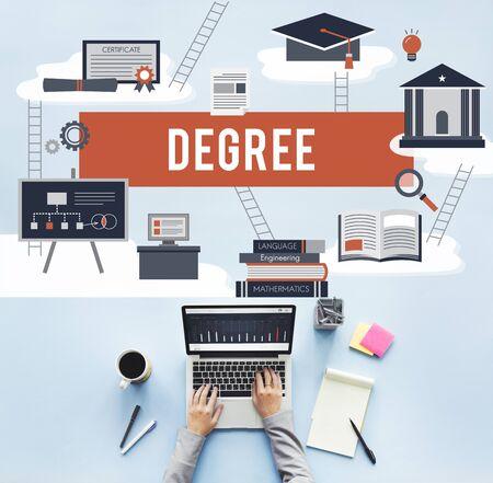master degree: Degree Diploma Bachelor Master Expertise Wisdom Concept