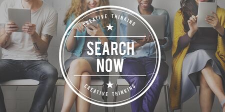 discover: Search Now Discover Connection Seeking SEO Concept Stock Photo