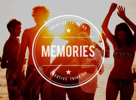 remember: Memoria recordar información Mente Recordando Concept
