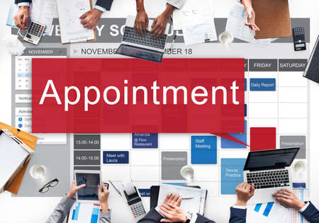 appointing: Appointment Activity Schedule Calendar Meeting Concept