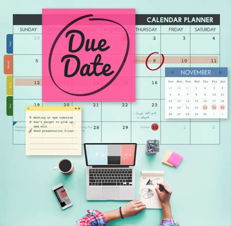 due: Due Date Appointment Day Event Important Concept