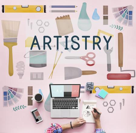 artistry: Artistry Craft Design Equipment Concept Stock Photo