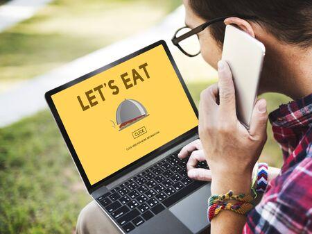 let: Let Eat Food Beverage Health Nutrition Organic Concept
