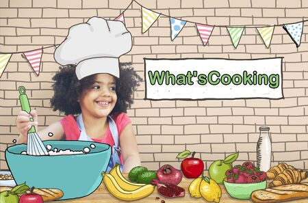 little chef: Whats Cooking Little Kid Chef Concept