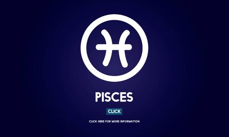 pisces: Pisces Astrological Astronomy Constellation Icon Concept Stock Photo
