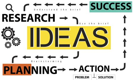 Ideas Success Strategy Research Planning Concept Stock Photo