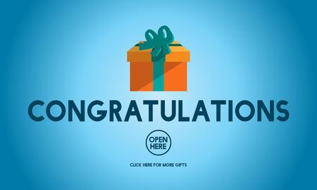 congrats: Congratulations Celebration Congrats Greeting Concept Stock Photo