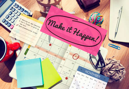 proactive: Make it Happen Change Effect Impact Proactive Concept Stock Photo