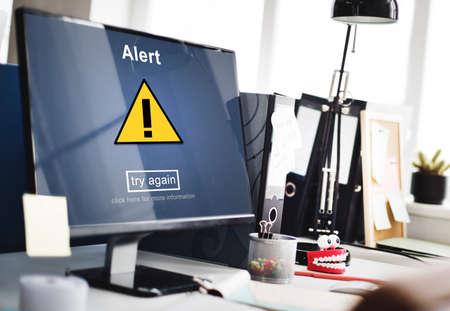 hack: Alert Warning Notification Hack Signal Concept