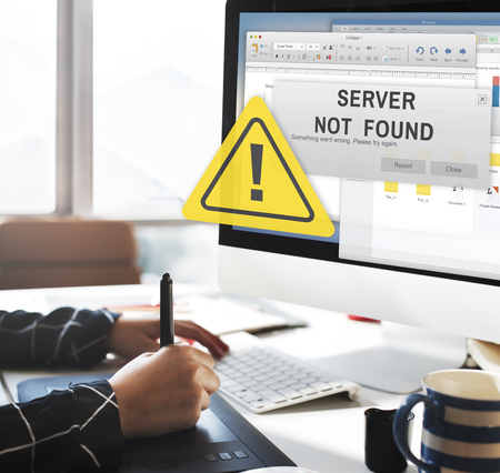 inaccessible: Server Not Found Error Inaccessible Concept Stock Photo