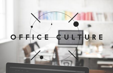 Office Culture Interior Workplace Concept Stock Photo