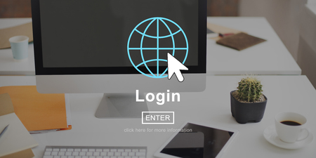 sign in: Log Sign In Page Interface Concept