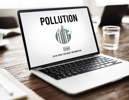 emission: Pollution Emission Fog Hazard Mist Pollute Smog Concept Stock Photo
