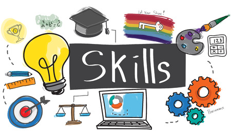 artistry: Skills Cleverness Intelligence Occupation Talent Concept Stock Photo